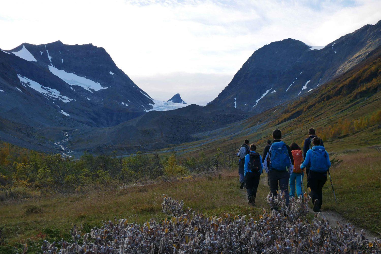 Randonnée Norvège - Alpes de Lyngen : glacier de Steindalsbreen