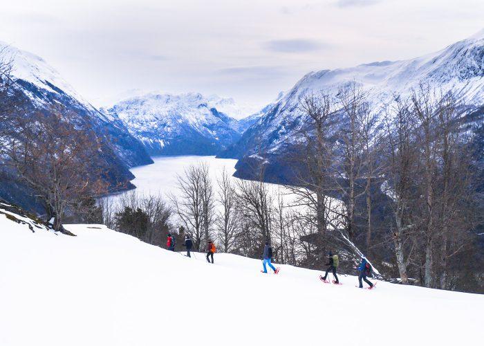 Randonnée raquette Norvège - fjords